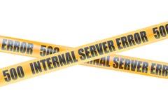 500 Internal Server Error Caution Barrier Tapes, 3D rendering Stock Photo