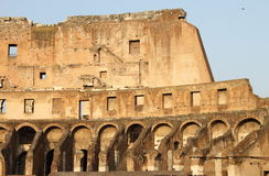 Internal side of Colosseum Stock Photography
