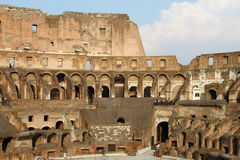 Internal side of Colosseum Stock Photo