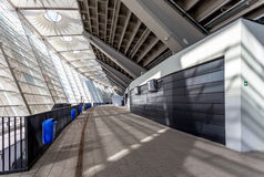 Internal spaces at Olimpiyskiy stadium Stock Images