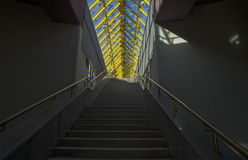 Internal staircase of a footbridge. Stock Photo