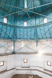 The internal structure of dome in old tower. Royalty Free Stock Photos