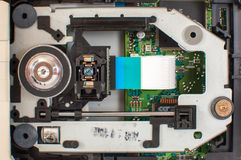 Internal structure of the DVD drive unit Stock Image