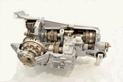Internal structure of engine Stock Photo