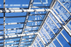 Internal structure of glass roof arch Royalty Free Stock Photography