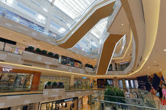 Internal structure of meisui mall Royalty Free Stock Photography