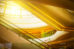The internal structure of the modern building Royalty Free Stock Photos