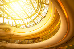 The internal structure of the modern building Royalty Free Stock Photo