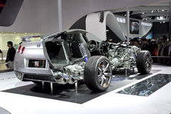 The internal structure of Nissan GTR. In its exhibition hall,in 2010 international Auto-show GuangZhou. it is from 20/12/2010 to 27/12/2010. photo taken on 25 Stock Photos