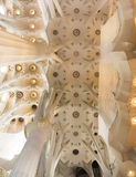 Internal structure of the Sagrada Familia Royalty Free Stock Photography