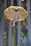 Internal structure of the Sagrada Familia Royalty Free Stock Images
