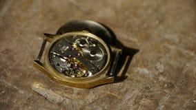 Internal structure of Watch,bearings,gears. stock video