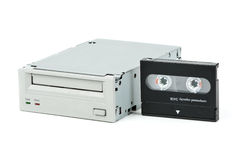 Internal tape drive unit Royalty Free Stock Photo
