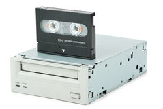 Internal tape drive unit and cassette Royalty Free Stock Photos