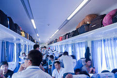 Internal of train in China Royalty Free Stock Image