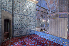 Internal view of Blue Mosque, Istanbul Stock Images
