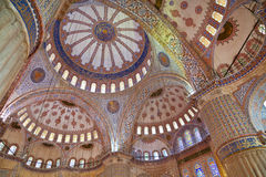 Internal view of Blue Mosque Royalty Free Stock Photography