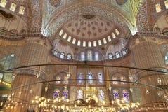 Internal view of Blue Mosque Stock Photos