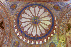Internal view of Blue Mosque, Sultanahmet Royalty Free Stock Photos
