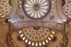 Internal view of Blue Mosque, Sultanahmet Royalty Free Stock Photo