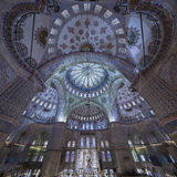 Internal view of Blue Mosque, Sultanahmet, Istanbul Stock Images