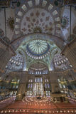 Internal view of Blue Mosque, Sultanahmet, Istanbul Royalty Free Stock Photography