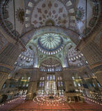 Internal view of Blue Mosque, Sultanahmet, Istanbul Royalty Free Stock Photo