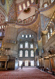 Internal view of Blue Mosque, Sultanahmet Royalty Free Stock Image