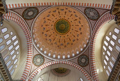 Internal view of Blue Mosque, Sultanahmet, Istanbul Stock Photography