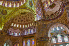 Internal view of Blue Mosque, Sultanahmet, Istanbul, Turkey Royalty Free Stock Images