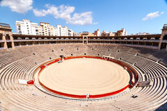 Internal view of the bullring in Mallorca. Royalty Free Stock Photo