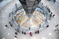 Internal view of Bundestag Dome - Berlin Royalty Free Stock Photo