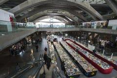 Gare do Oriente in Lisbon. Internal view of Gare do Oriente in Lisbon, Portugal Stock Photography