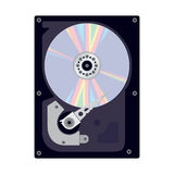 Internal View of the Hard Disk of a Computer. Royalty Free Stock Images