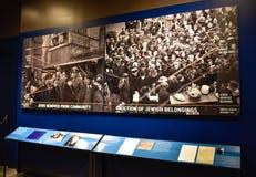 Internal view of the Holocaust Memorial Museum, in Washington DC, USA. Holocaust Memorial Museum in Washington DC, USA. Real pictures of the deported, Nazi stock image