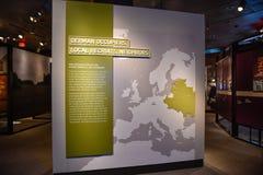 Internal view of the Holocaust Memorial Museum, in Washington DC, USA. Holocaust Memorial Museum in Washington DC, USA. Real pictures of the deported, Nazi stock photos