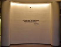 Internal view of the Holocaust Memorial Museum, in Washington DC, USA. Holocaust Memorial Museum in Washington DC, USA. Real pictures of the deported, Nazi stock photo