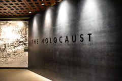Internal view of the Holocaust Memorial Museum, in Washington DC, USA. Holocaust Memorial Museum in Washington DC, USA. Real pictures of the deported, Nazi royalty free stock photography