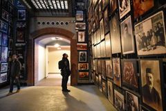 Internal view of the Holocaust Memorial Museum, in Washington DC, USA. Stock Photos