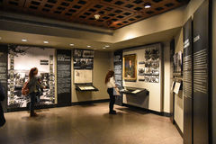 Internal view of the Holocaust Memorial Museum, in Washington DC, USA. Stock Photography