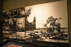 Internal view of the Holocaust Memorial Museum, in Washington DC, USA. Royalty Free Stock Photos