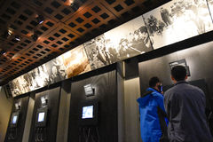 Internal view of the Holocaust Memorial Museum, in Washington DC, USA. Royalty Free Stock Images