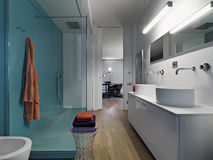 Internal view of a modern bathroom Stock Photos