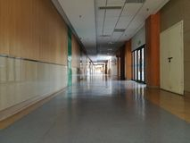 The internal view of the modern  hospital Royalty Free Stock Photo
