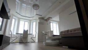 Modern living room interior stock video