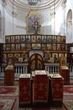 Indoors of Saint Michael church in Neive Stock Image
