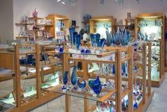 Bohemian crystal shop in Prague Royalty Free Stock Image