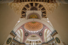 Internal view of Suleymaniye Mosque, Istanbul Royalty Free Stock Photo