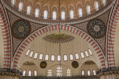 Internal view of Suleymaniye Mosque, Istanbul Royalty Free Stock Image