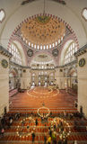 Internal view of Suleymaniye Mosque, Istanbul Royalty Free Stock Photos